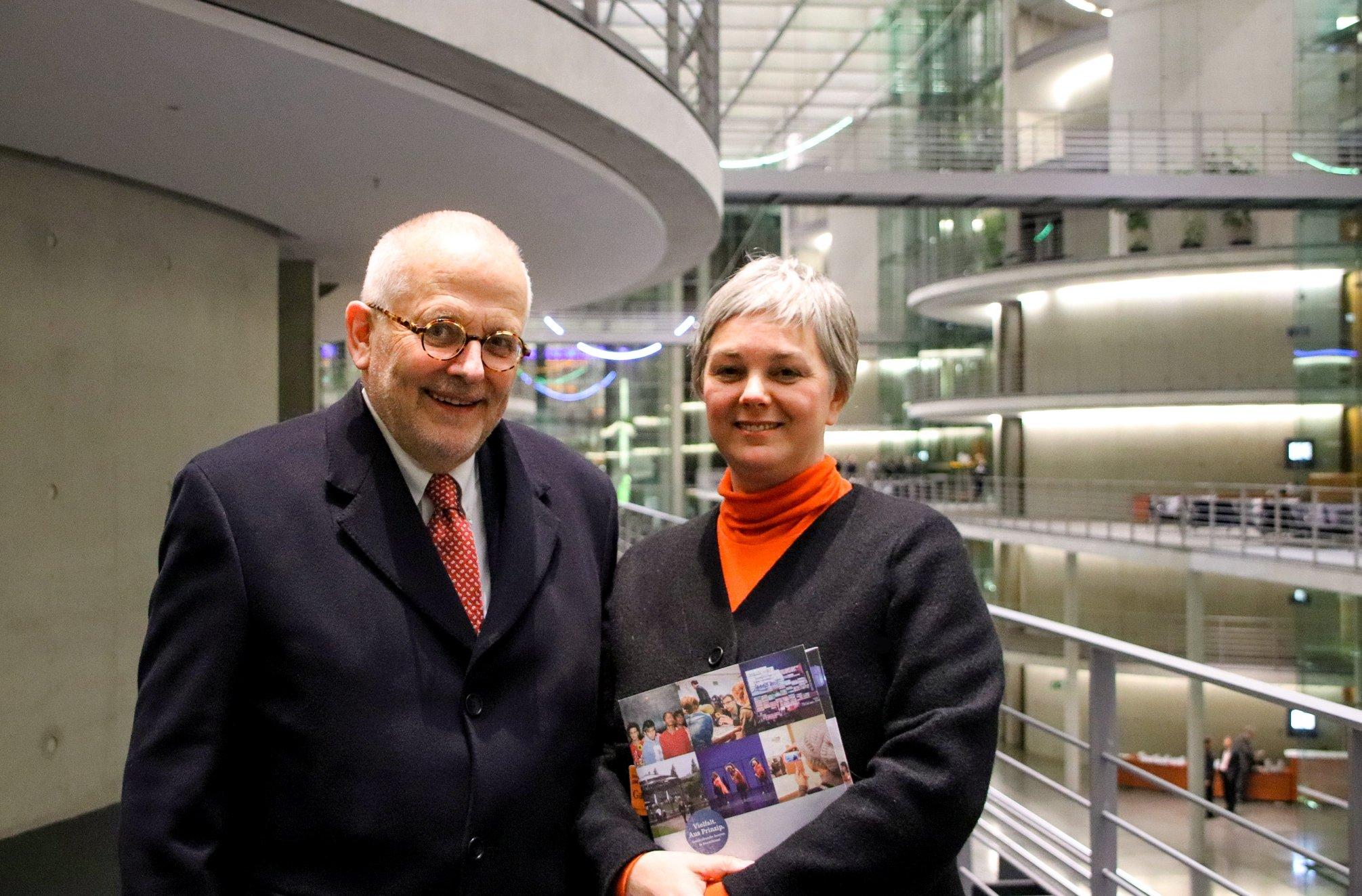 Ellen und Dr. Rupert Graf Strachwitz  nach dem Unterausschuss Bürgerschaftliches Engagement, Foto © Nikolaus Hausser