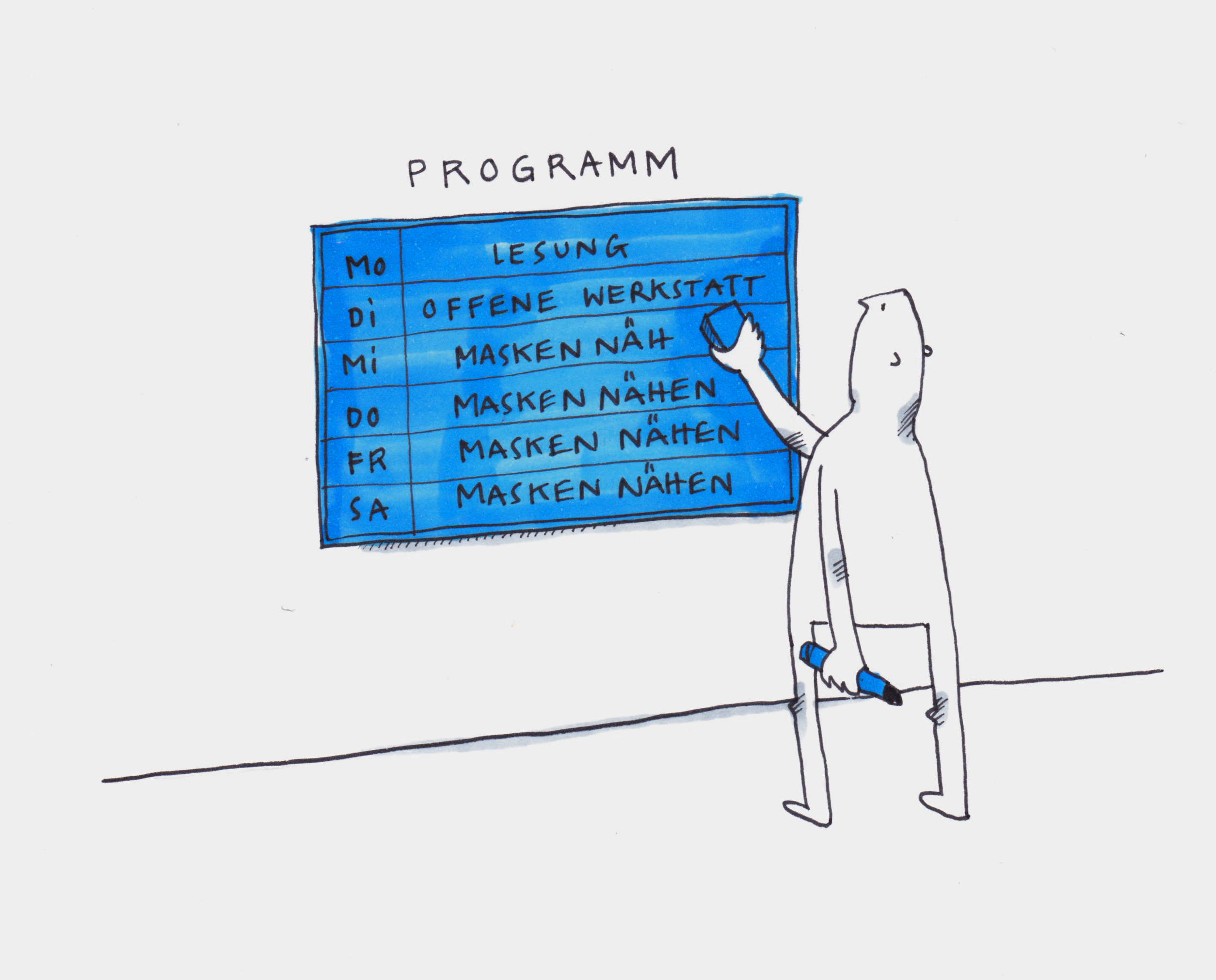 Förderprogramm NEUSTART KULTUR beim Bundesverband Soziokultur. www.neustartkultur.de . Grafik: Johanna Götz