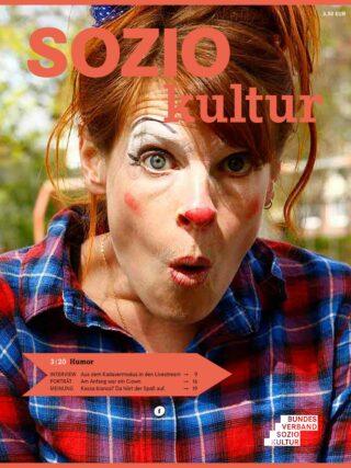 Aktuelle Zeitschrift SOZIOkultur des Bundesverbands Soziokultur. Titelthema HUMOR. 3/2020