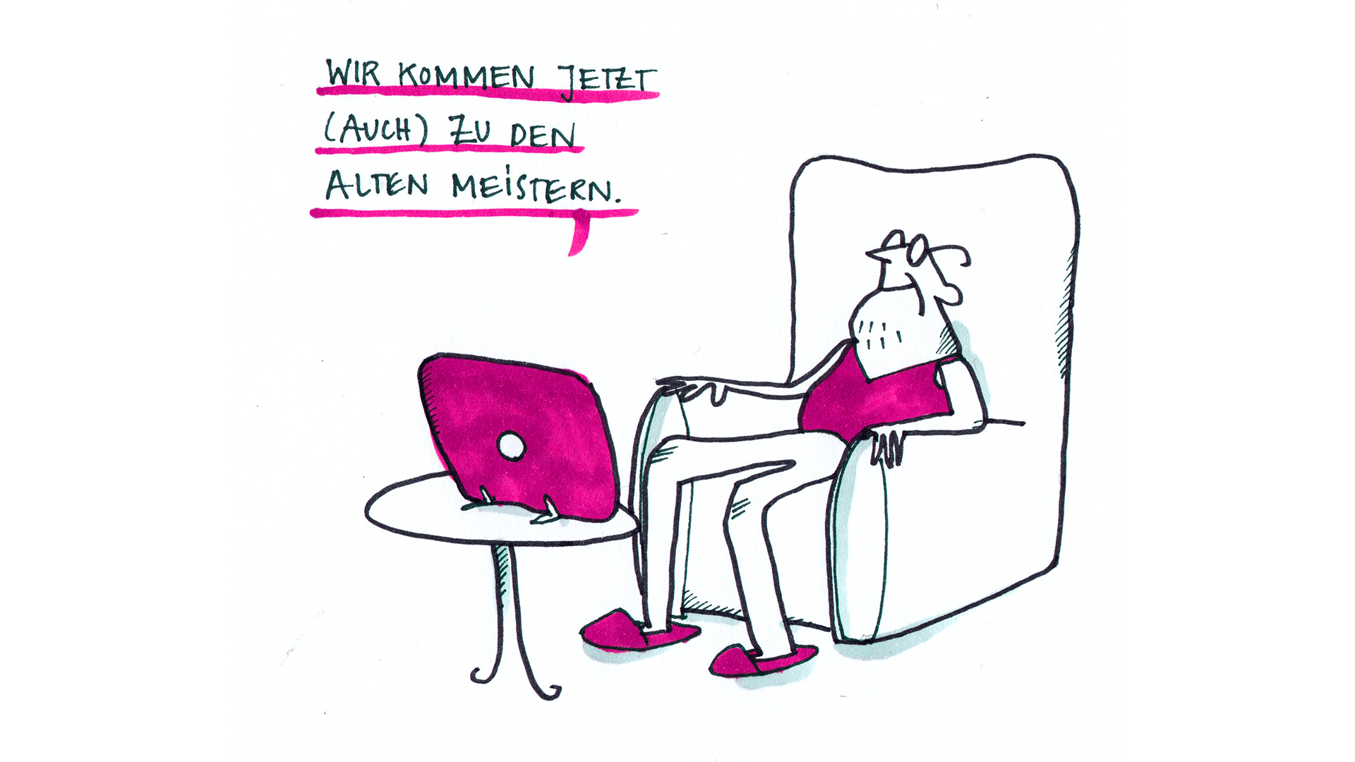 NEUSTART Sofortprogramm. Zeichnung © Johanna Götz